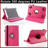 Cheap 360 Degree Rotating Retro Litchi Grain PU Leather Flip Case Holder Stand Cases Cover For Universal 7 inch 8inch 9inch 10inch Tablet
