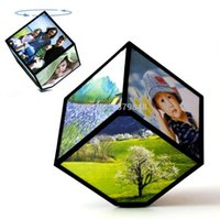 Wholesale MAGIC CUBE REVOLVING PICTURE PHOTO FRAME CUBE MULTIPLE PICTURE FRAME ROTATING REVOLVING MULTI PICTURE PHOTO FRAME CUBE