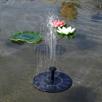 Wholesale Solar Brushless Water Pump Wholesale - Garden Pond Solar Power Brushless Floating Fountain Water Pump Panel Watering Polycrystalline Silicon Solar Fountain Water Pump Cycle B235