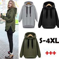 Wholesale Army Green New Winter Autumn Loose Hooded Jacket Plus Size Thick Velvet Long sleeve Sweatshirt Korean Style Hoodies g pc OXL092901