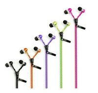 Wholesale Full new Zipper Earphone Headset earphone Concise earphone headphone for Iphone4s s Samsung LG HTC smart phone with retail box