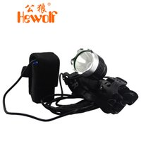 Wholesale camping lamp Male wolf t6 headlight glare charging long range hunting miner s lamp for a long amount night fishing lights