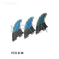 Wholesale 2015 High quality FCS II fins with fiberglass honey comb material for surfing size M