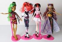 Wholesale 14PCS set High school Monster Toys Doll Bobbi doll zombie Girl Figure for Girls High Quality Gift for Children