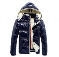 Wholesale Fashion Winter Jacket Men White Duck Down Jackets With Hoodies Black Blue Doudoune Homme Hiver Marque Outwear Parka coat