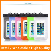 Wholesale Case For iPhone6Plus Waterproof Case for Samsung Galaxys6 s6edge S7 S7EDGE Mobile Phone Waterproof Cell Phone Water Proof Neck Pouch Bag