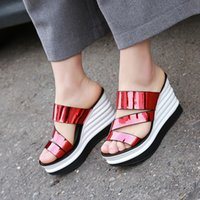 adhesive backed rubber manufacturer - 2016 new fashion handmade shoes sandals female fish head waterproof sandals muffin with broken shoes manufacturers now in Europe
