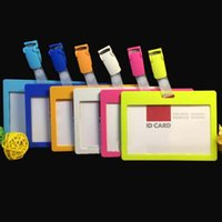 art es - High Quality Badge Card Holder With Colorful Plastic Clips Horizontal Style Fashion Exhibition School Office Supplies Material Es