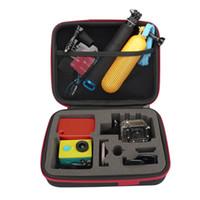 Al por mayor de la cámara gopro Baratos-Nuevo negro de tamaño medio de almacenamiento de llevar bolsa de caja de caja para GoPro 4 cámara al por mayor