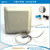 Wholesale UHF RFID card reader m long range dbi Antenna RS232 RS485 Wiegand Read M Integrative UHF Reader