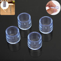 Wholesale New x Furniture Chair Table Legs Floor Feet Cap Cover Protectors Round Internal Diameter mm Furniture Legs