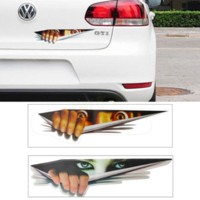 Wholesale Funny Car Sticker D Eyes Peeking Monster sticker Voyeur Car Hoods Trunk Thriller Rear Window Decal HA10472