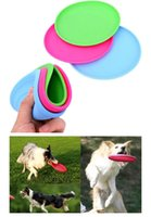 Wholesale Hot Sales Dog Puppy Cat Pet Training Fetch Toy Frisbee Flying Disc Silicone Dog Toys Chews