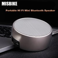 Wholesale MISBIKE BS Portable Mini HIFI Bluetooth Speaker Wireless Super Bass Smart Speakers Handsfree With Mic Support TF Card and Multiple AU in