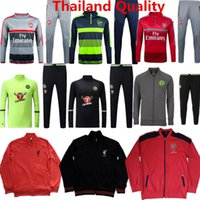 arsenal suit jacket - Sportsear Arsenals Tracksuits Chelsea Home Jackets Sweater Suit Training Sets Ozil Hazard Alexis Soccer Jerseys Hoody Long Pants Top Quality