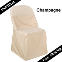 Wholesale 50PC Cheap Universal WEDDING Chaircovers Wedding Linen Machine Washable Hotel Restaurant White Folding Chair Seat Covers of Dining Chairs