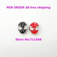 Wholesale The Spider Man Floating Charm Super Hero Locket Charm For Glass Floating Locket Accessories
