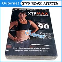 Wholesale XTF MAX day Workout DVD XTF Max Stephanie Oram Ripped in DVDs Fitness slimming also have PIY0 ClZE Ins nity P9OX exercise video