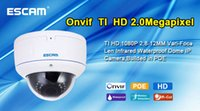 Wholesale Hot selling Escam HD3500V WaterProof IR Network ONVIF AR0331 mm lens Dome Camera