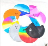 Wholesale Swimming supplies comfortable waterproof and Durable Silicone Swimming Cap Unisex cap g