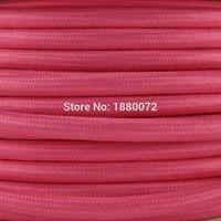 antique style textile - Vintage style round fabric electric wire antique textile braided cable decorative flex pendant lamp cord mm