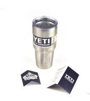 Wholesale 2016 YETI Cooler Cups Rambler oz Drink Tumblers Coolers Stainless Steel Vacuum Insulated Travel Vehicle Beer Sweet Tea Large coffee