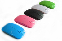 souris Ultra Hot USB Thin Souris optique sans fil 2.4G Récepteur Super Slim souris pour ordinateur portable PC Desktop 5 couleurs Candy 2016