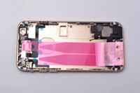 backing boards - New Full Bezel Assembly complete parts rear housing For iPhone quot Back battery cover middle Frame board Metal housing