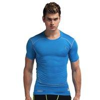 Wholesale 4colors Men Short Sleeve Compression Shirts Baseball Jerseys Cool Skin Tights T Shirts Fashion Cycling Jerseys High Quality Gift