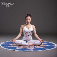 Wholesale Activity Printing Round Pad Shop Towel Thickening No Fade Embassy Decoration Necessary superfine fibre cm cm Yoga