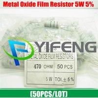 Mayor-Libre del envío (50PCS / LOT) 5W 470 ohm 5% 5W metal Kit Resistencia película de óxido