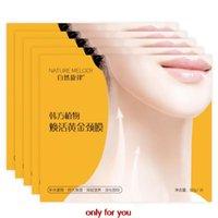 Wholesale Pieces Korea Collagen Gold Gel Neck Mask Puffiness Moisture Neck Mask Wrinkles Dark Circles