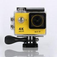 Wholesale Original EKEN H9 remote Action camera Ultra HD K WiFi P fps LCD D lens Helmet Cam go waterproof pro camera