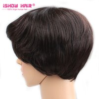 Wholesale Cheap Price Big Discount Short Wig Black Color Soft and Smooth Brazilian Malaysian Indian Peruvian Hair