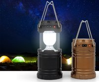 Wholesale Outdoor solar LED rechargeable camping lantern lamp emergency lantern night light USB multifunction hand lamp