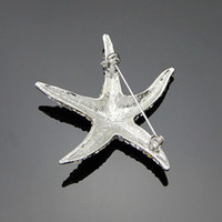 amazing costume jewelry - Vivid Amazing Transparent Crystal Starfish Brooch Lovely Sea Star Rhinestone Brooch Costume Jewelry Brooch for Women