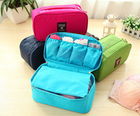 Wholesale 10PCS New Design Waterproof Travel Pouch Nylon Multifunction Make up Portable Underwear Bag Luggage Storage Bra Organizer