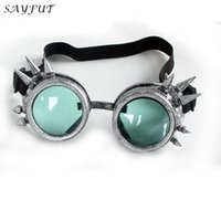 Wholesale Unisex Vintage Victorian Style Steampunk Goggles Welding Punk Gothic Glasses Colors Lenses Cosplay Goggles Cool