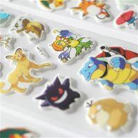 Wholesale Cartoon Animal Wall Stickers Decoration Poke go D Pikachu Charmander Charizard Eevee sticker for Kids room Decor Boys toys Christmas Gift