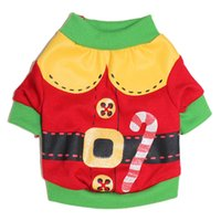 Wholesale 2016 new product Pet clothes green and red Santa Claus shirt for Teddy clothes suits for Autumn