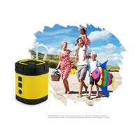 audio speaker cover - Waterproof Mini Speakers with Outdoor Mic Audio Subwoofer Covers Waterproof Design Supporting TF Card and MP3 Player for Children