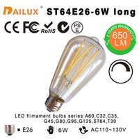 amber cool - LED Filament vintage Edison light bulb ST64 Dimmable long Amber W W incandescent Equivalent E26 years warranty