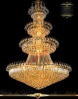 Wholesale K9 Led Modern Gold Crystal Chandelier Light V V Upscale Royal Lustre Indoor Large Crystal Chandeliers Lighting Fixtures
