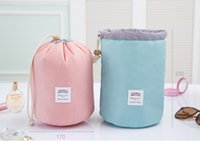 barrels for sale - large capacity Travel cosmetic bag make up bags Barrel Shaped hight quality hot sales waterproof Macaron candy washing package Bag For Women