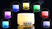 Wholesale 500ml Aromatherapy Essential Oil Diffuser Portable Ultrasonic Mist Aroma Humidifier with Color LED Lights Changing and Waterless ST