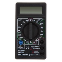 Wholesale LCD Digital Multimeter Tester Meter Voltmeter Ammeter Ohm DT830B Black