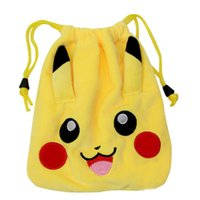 Wholesale New Cartoon plush pockets pull rope pockets outsourcing package cartoon coin purse storage bag