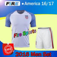 home kit - 2016 america men set soccer jerseys DEMPSEY BRADLEY ALTIDORE MORGAN USA home White camiseta de futbol survetement football shirts kits