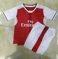Wholesale _ Wholesales seasons kids soccer jerseys customzied name number OZIL WILSHERE top quality soccer uniforms football shirts shorts