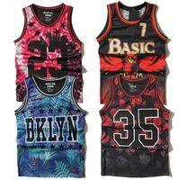basketball tank tops - 2016 Summer Basketball Jersey Tank Top Men Hip Hop Street Ball Fashion Vest Flower Brooklyn Durant Mesh Vest Tank Tops Men